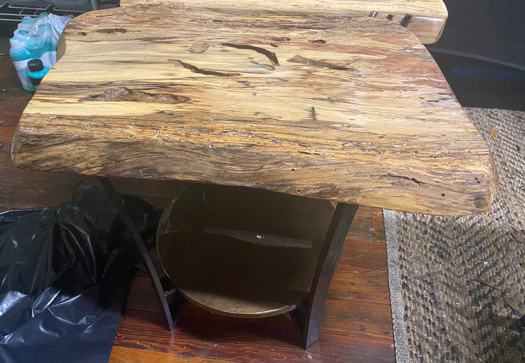 Sycamore wooden end table, 20 inches