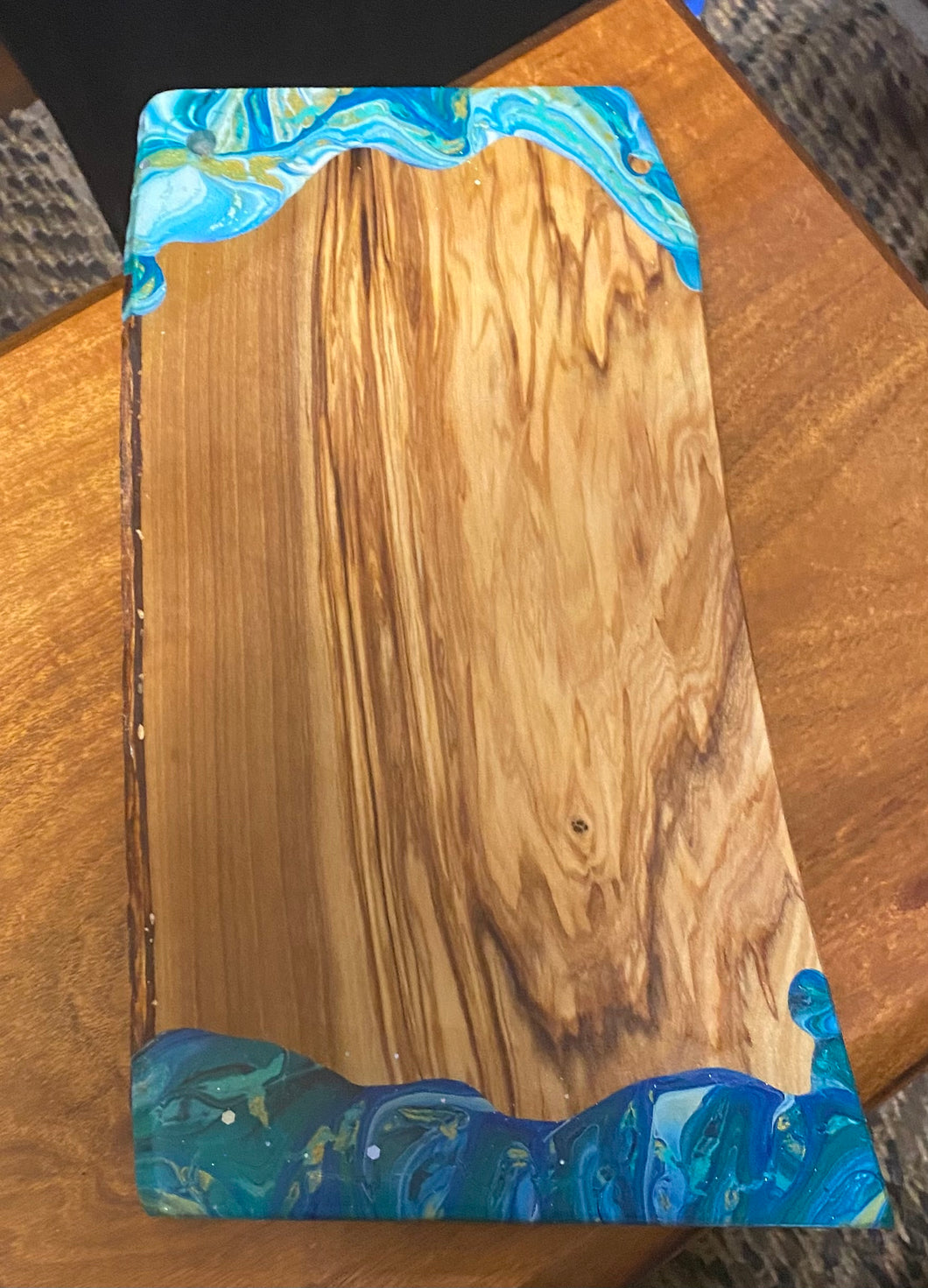 Cheese board made from olive wood