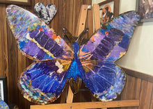 Load image into Gallery viewer, Large handpainted butterfly