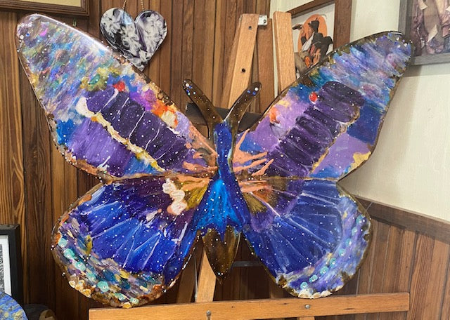 Large handpainted butterfly