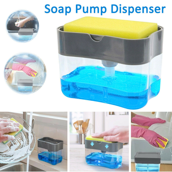 Multifunctional Soap Pump Dispenser with Sponge Holder