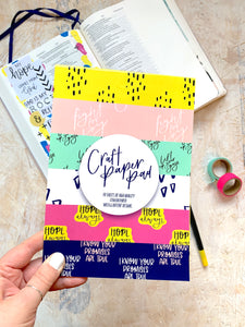 Craft paper pad | Bible journaling