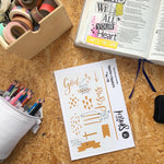 Load image into Gallery viewer, Hand lettered patten | Stencil | Bible Journaling