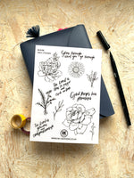 Load image into Gallery viewer, Bloom- Clear Vinyl Sicker Sheet | Journaling Supplies
