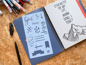 Hand lettered patten | Stencil | Bible Journaling