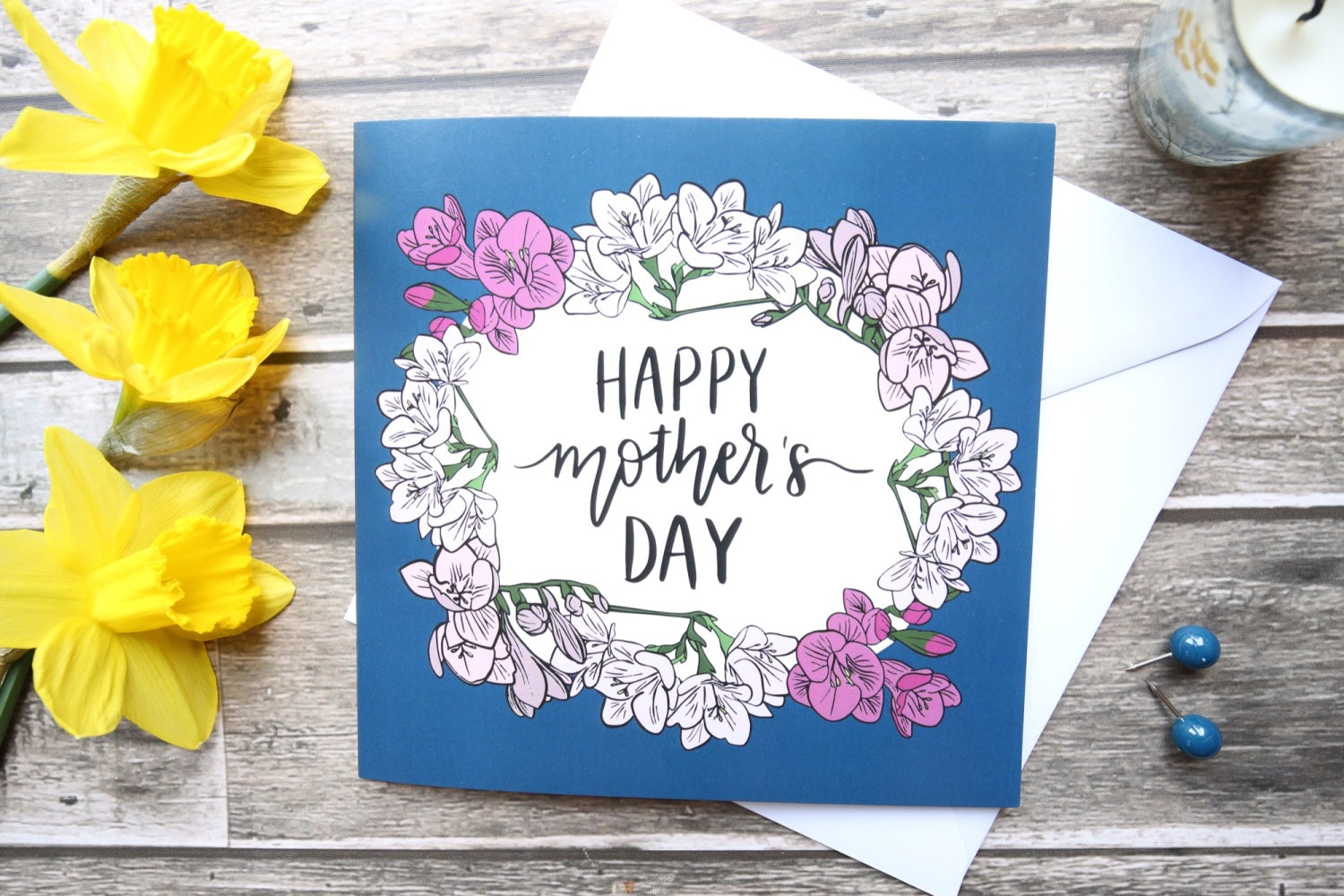 Illustrated Floral -Mother's Day Card