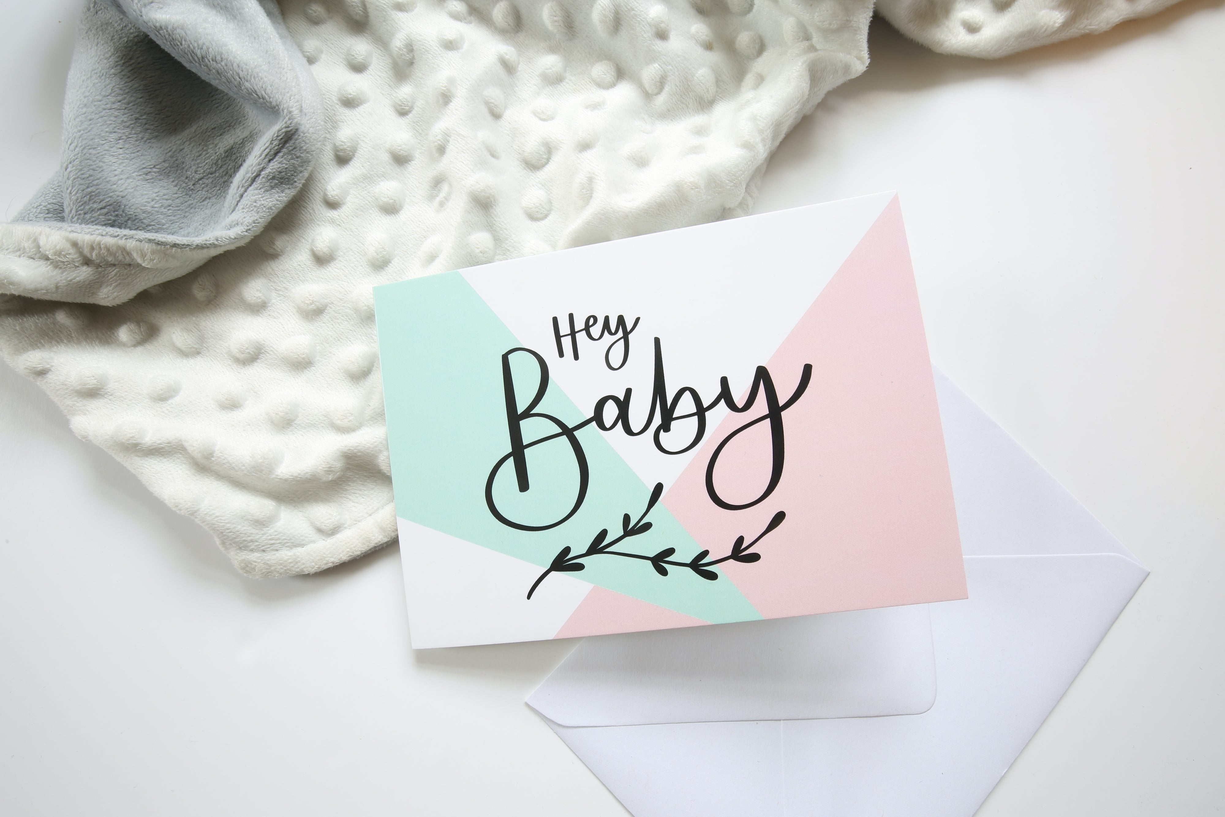Hey Baby | Neutral New baby Card