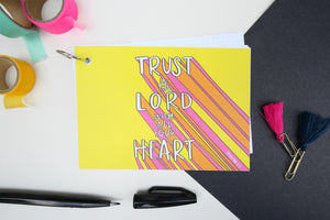 Trust in the Lord- Proverbs 3:5 - note stack on split ring