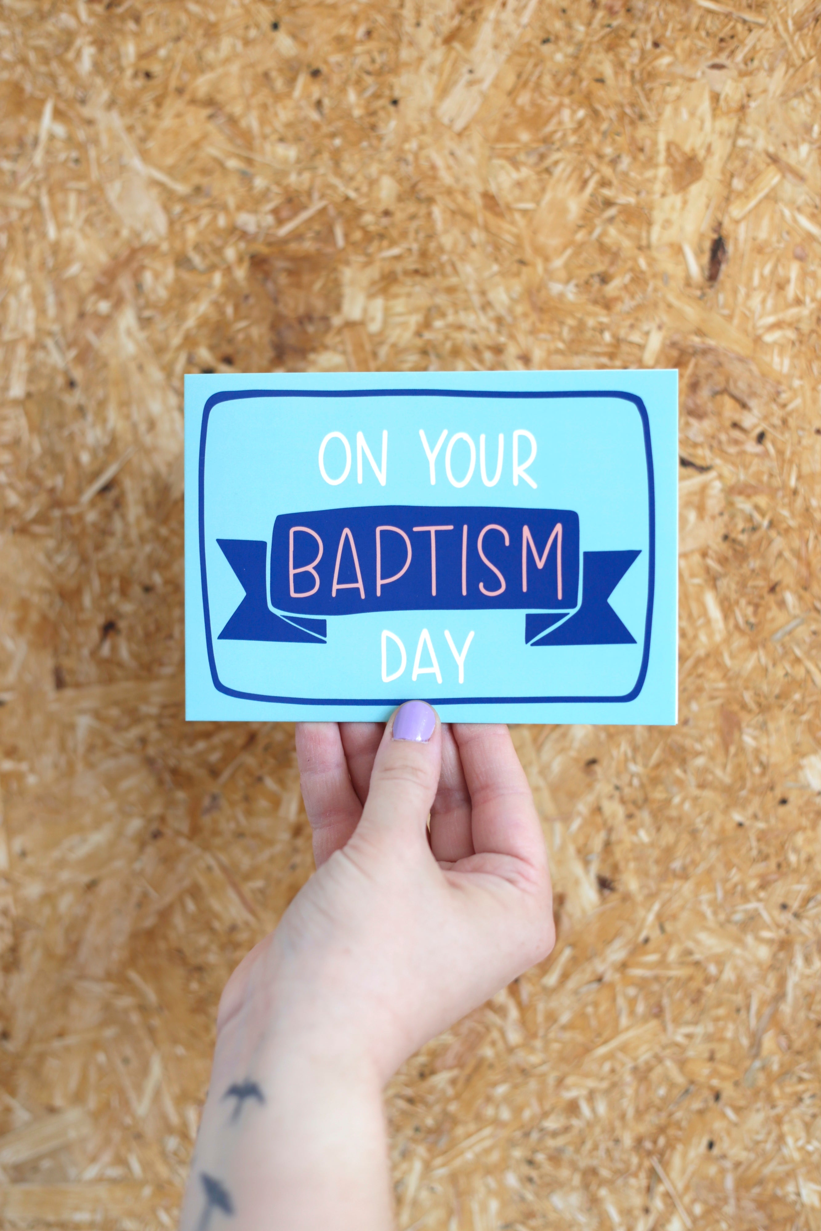 On your Baptism day- blue | Card