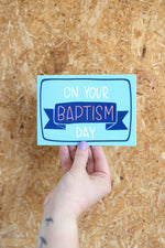 Load image into Gallery viewer, On your Baptism day- blue | Card