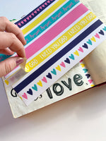 Load image into Gallery viewer, Washi Strips | Bold & Bright | Journaling Supplies