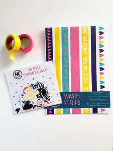 Washi Strips | Bold & Bright | Journaling Supplies