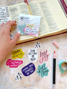 Faith filled die cut sticker pack | Bible journaling