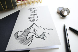 Strength of my Life| Psalm 27 | A5 dotted notebook