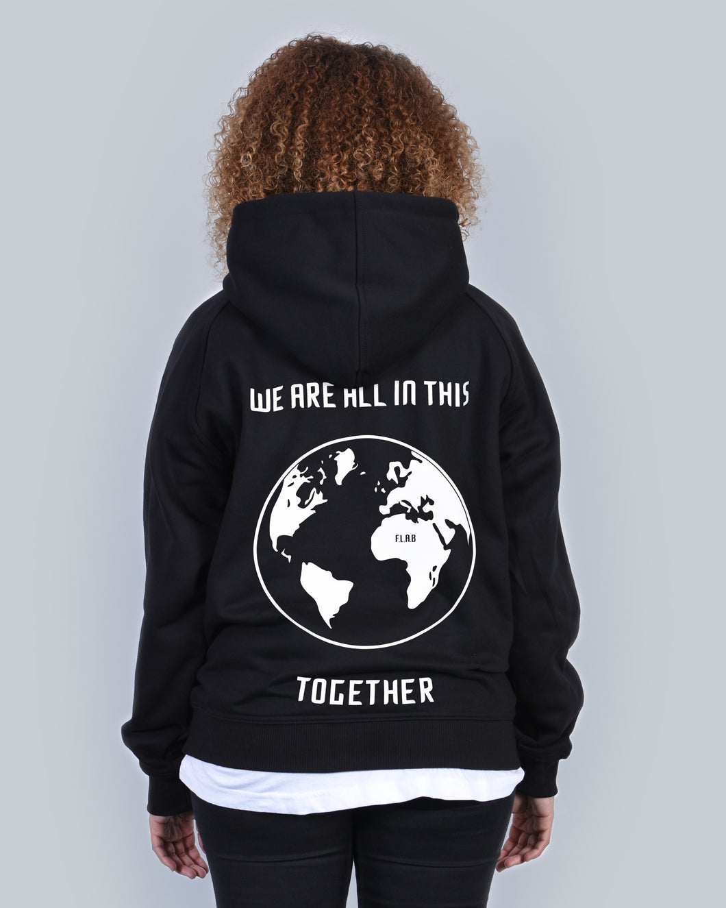United People Hoodie Black Women