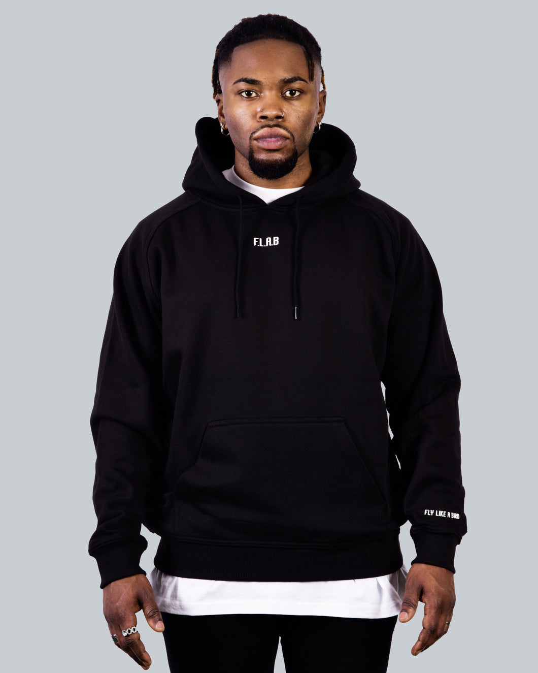 Basic Hoodie Black Men