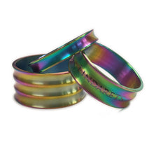 Load image into Gallery viewer, Arc Oil Slick Titanium Headset Spacer Kit