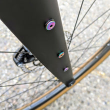 Load image into Gallery viewer, Purple Ultra-Low Profile Titanium Bottle Cage Bolts