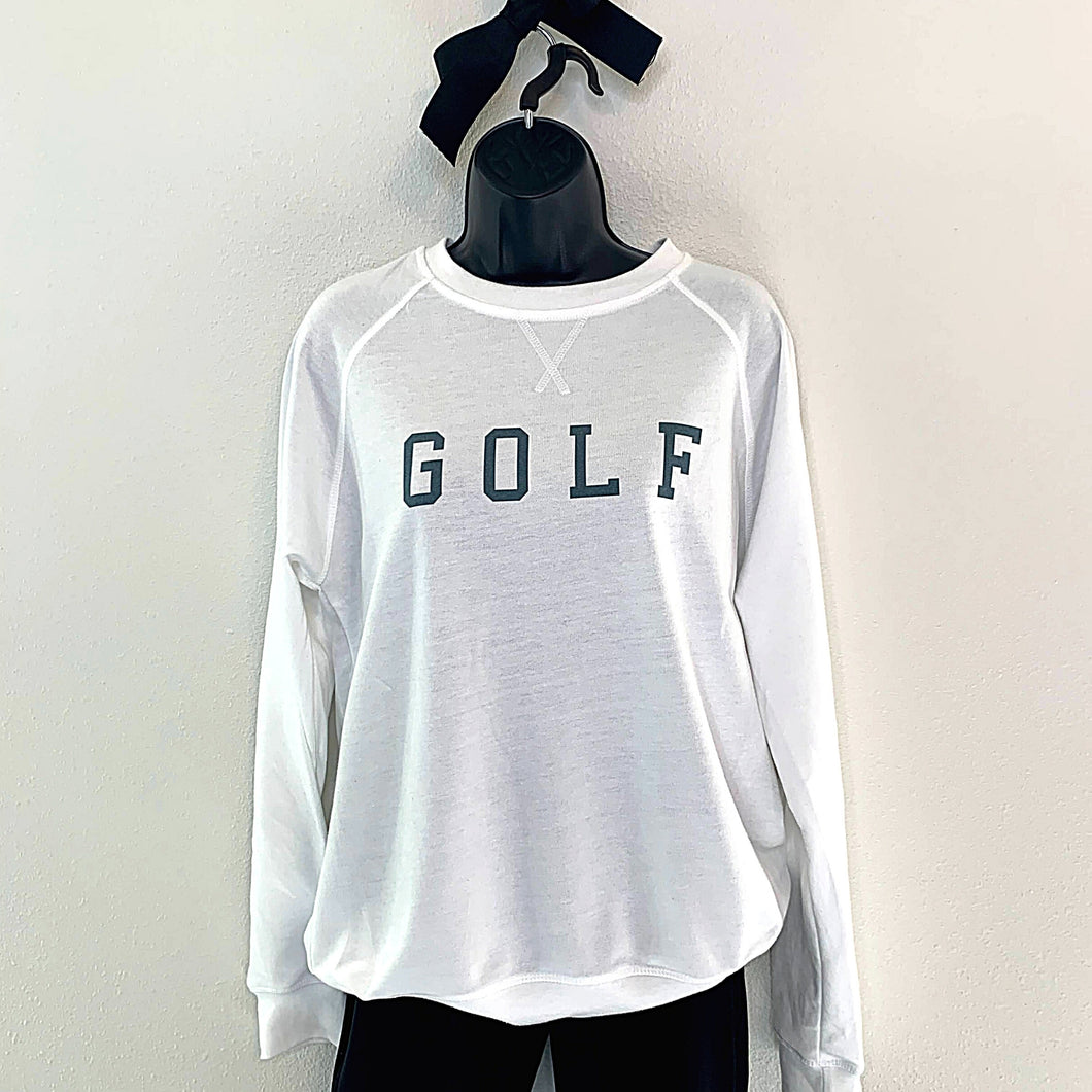 Relaxed Crew Neck Golf Sweatshirt