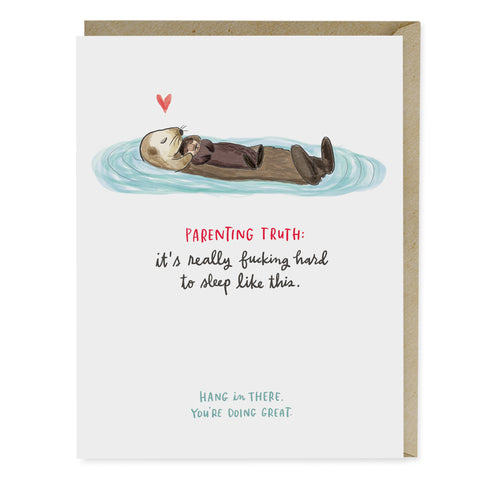 Baby Otter Parenting Support Card