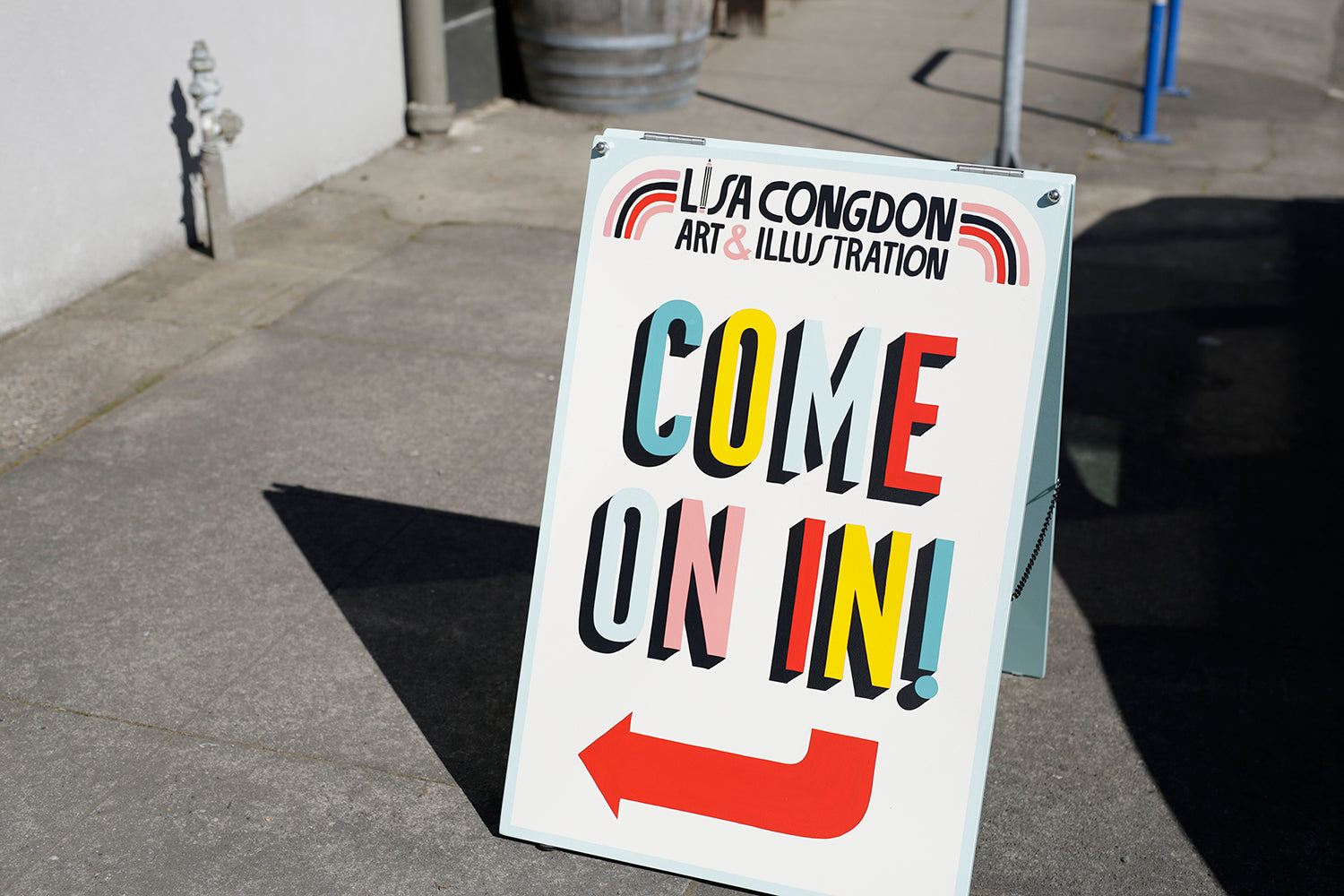 Lisa Congdon for Emily McDowell Portland Launch Event
