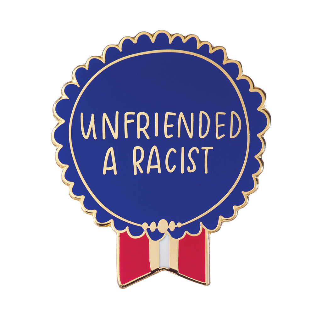 Unfriended a Racist Everyday Bravery Enamel Pin