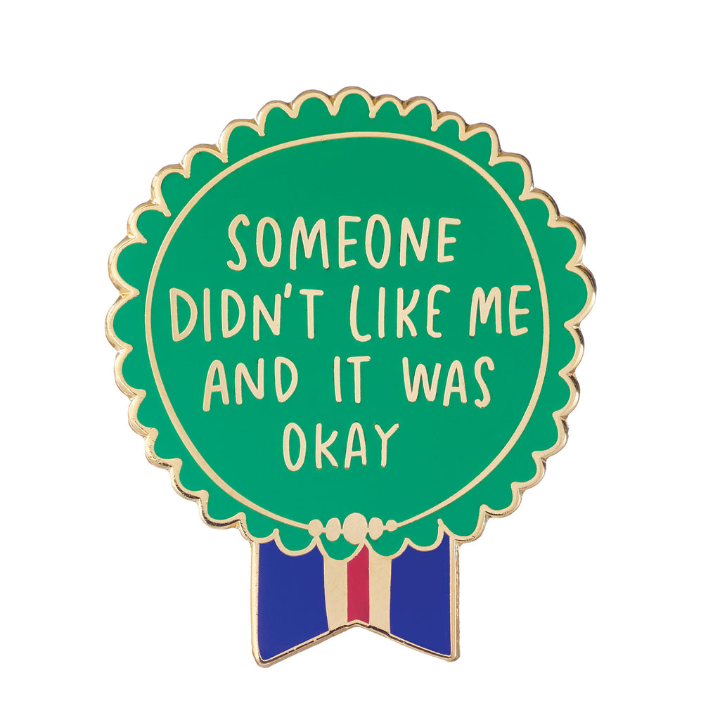 Someone Didn't Like Me Everyday Bravery Enamel Pin