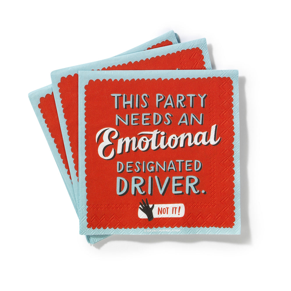Emotional Designated Driver Cocktail Napkins, Pack of 20