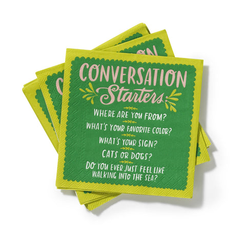 Conversation Starters Cocktail Napkins, Pack of 20