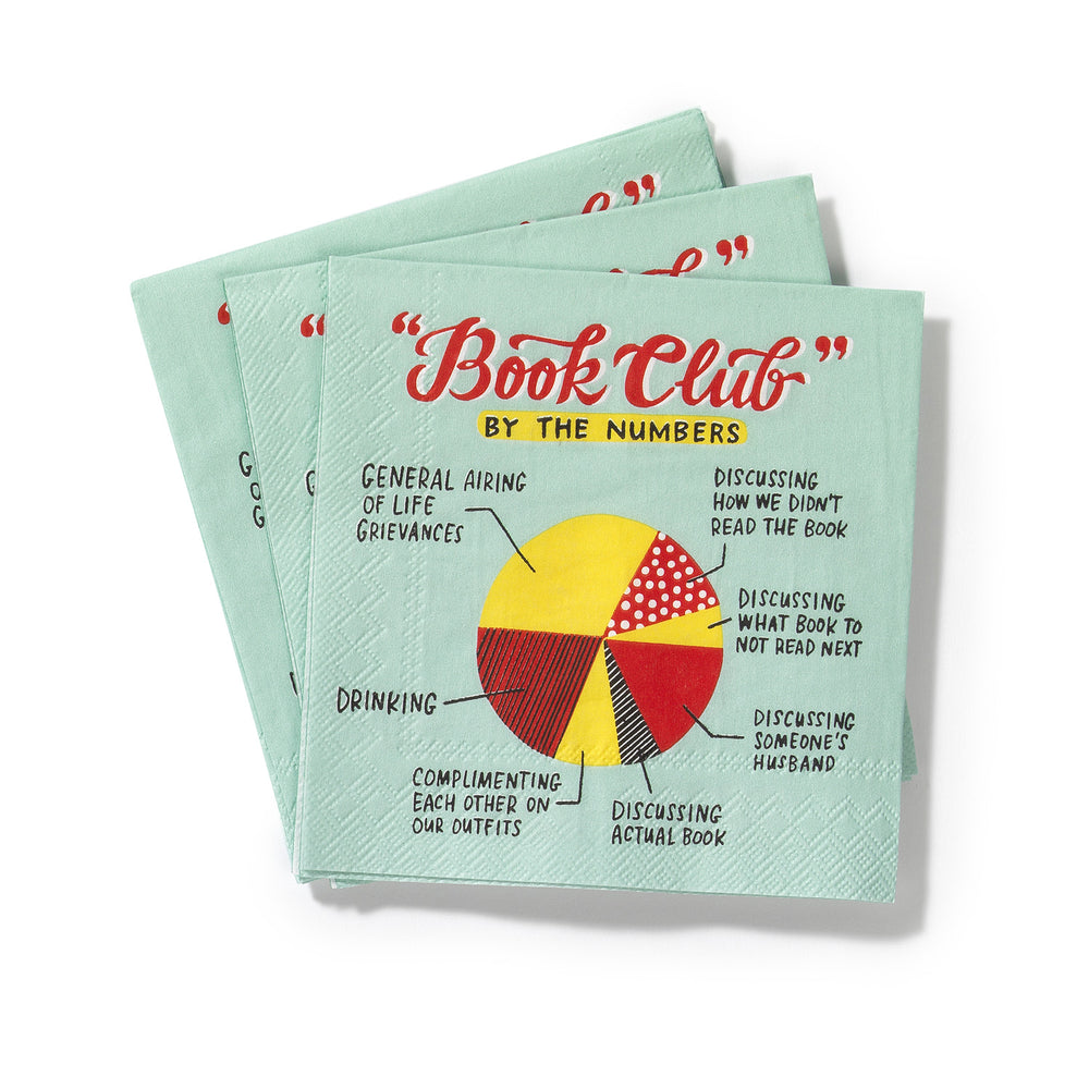 Book Club Cocktail Napkins, Pack of 20