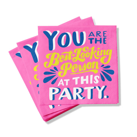 Best-Looking Person Cocktail Napkins, Pack of 20