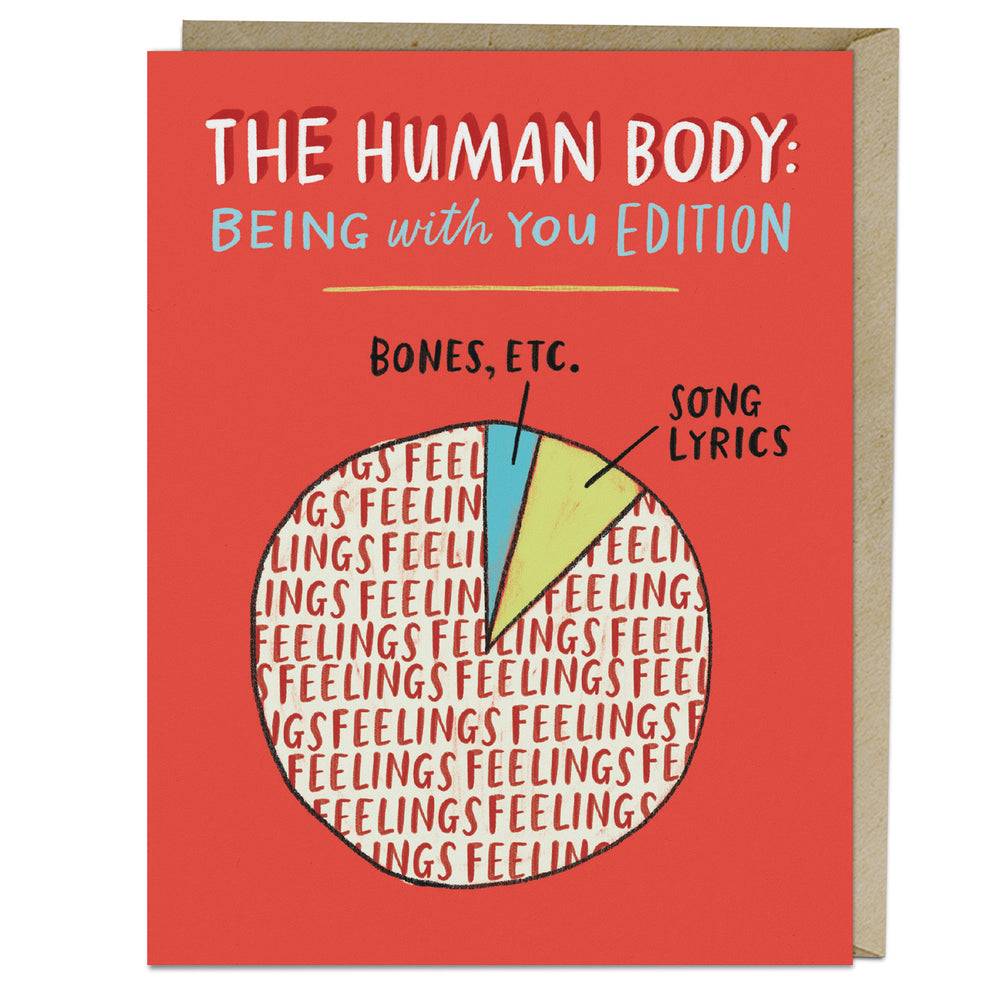 Human Body Pie Chart Love Card