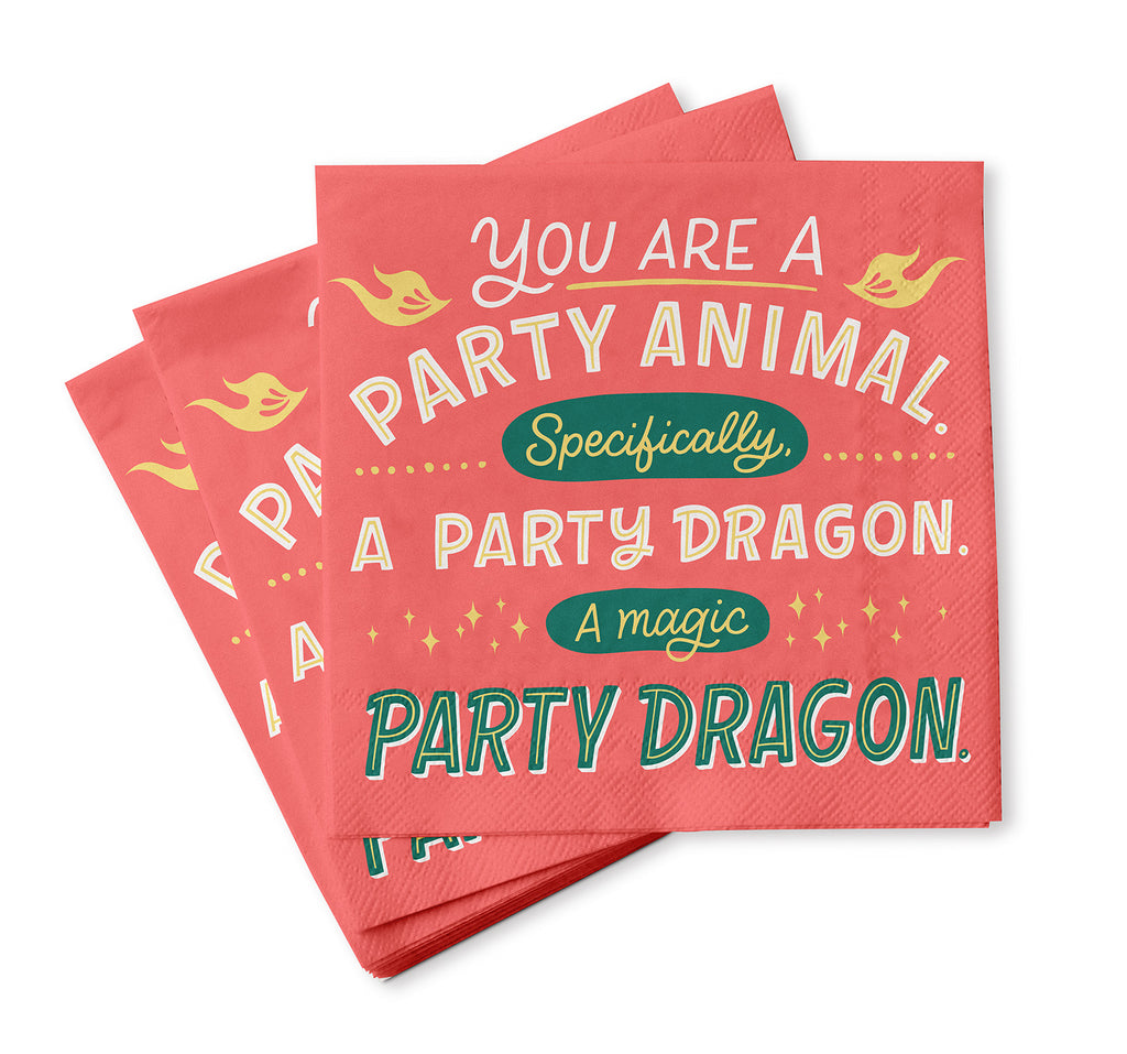 Party Dragon Cocktail Napkins, Pack of 20