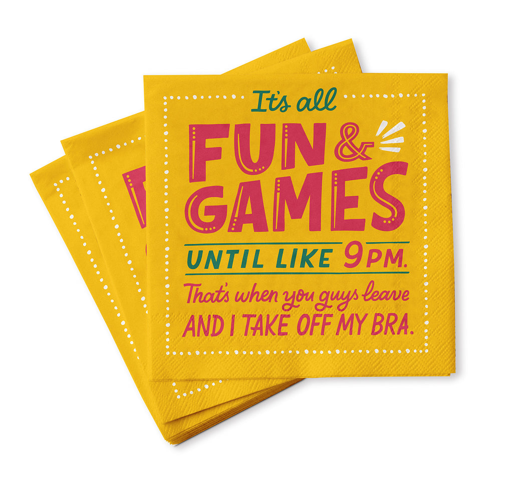 Fun and Games Cocktail Napkins, Pack of 20