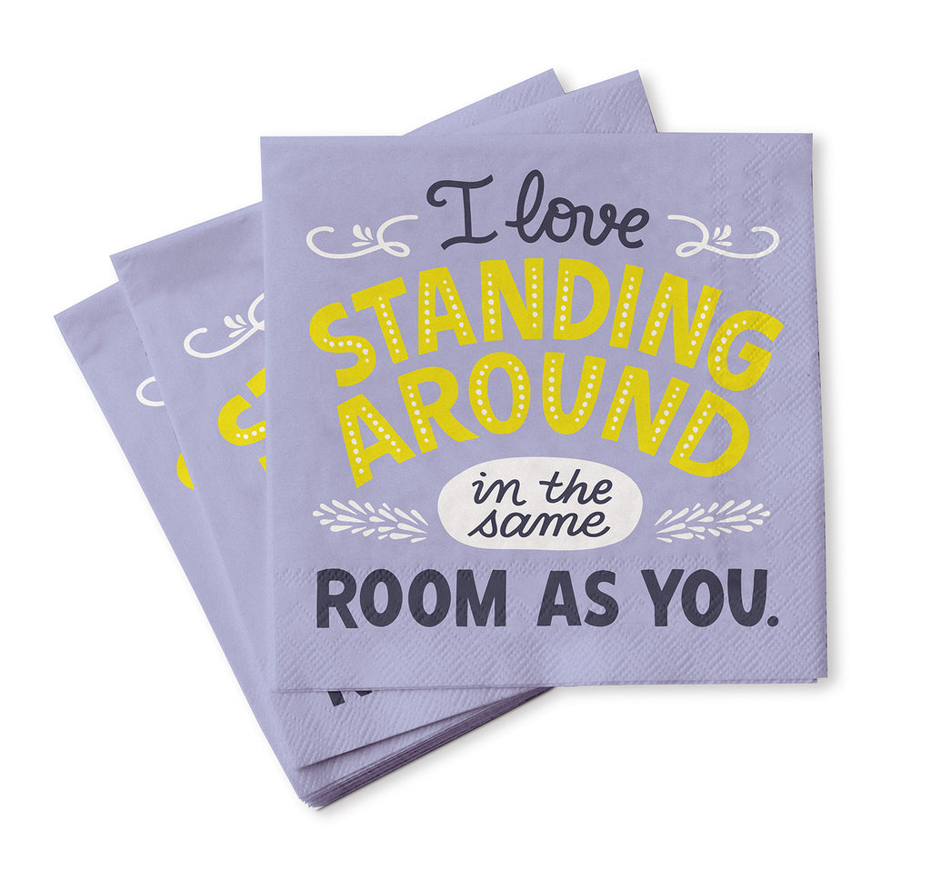 Standing Around Cocktail Napkins, Pack of 20