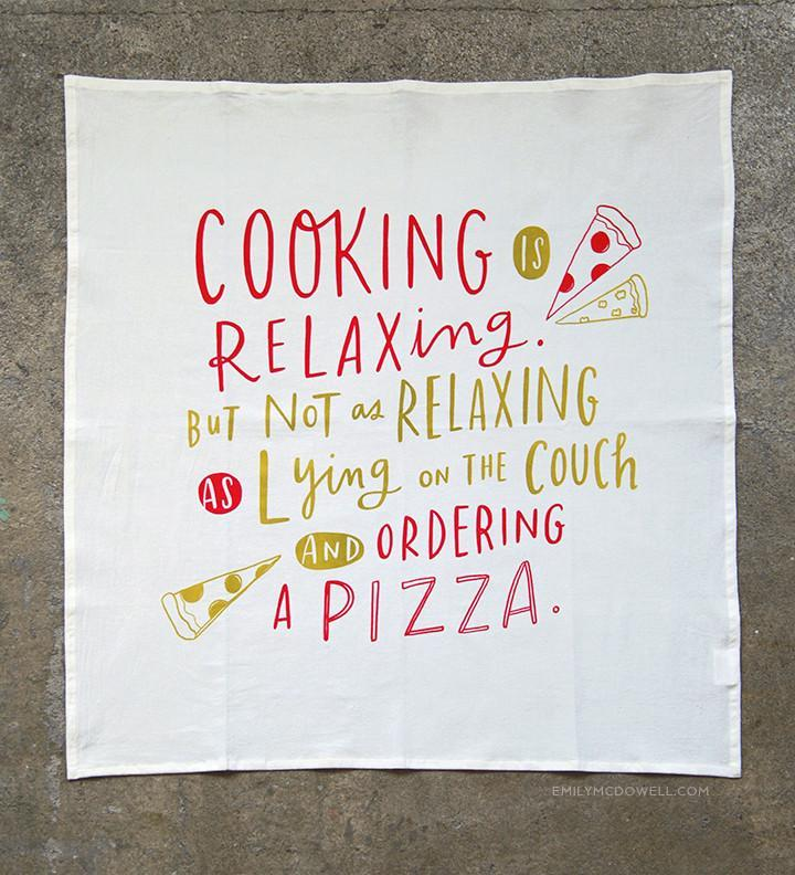 Cooking Is Relaxing Dish Towel