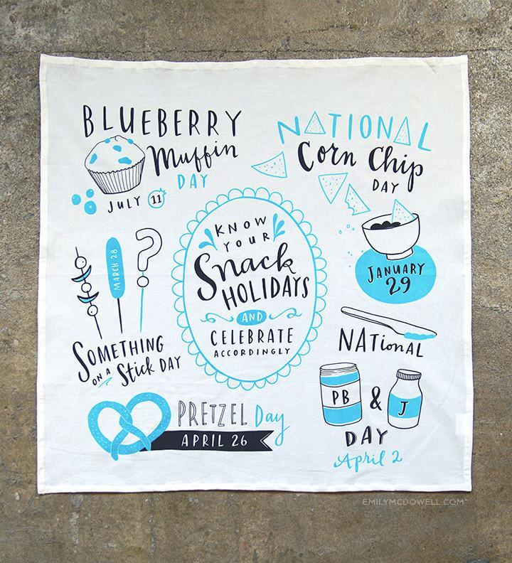 Snack Holidays Dish Towel