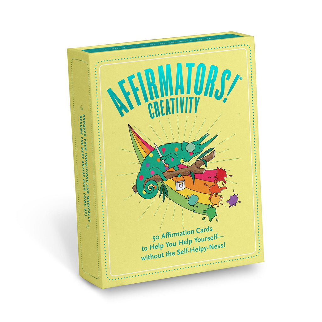 Knock Knock Affirmators! Creativity: 50 Affirmation Cards Deck
