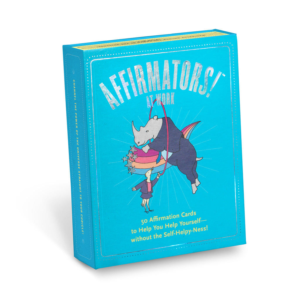 Knock Knock Affirmators!® at Work: 50 Affirmation Cards Deck