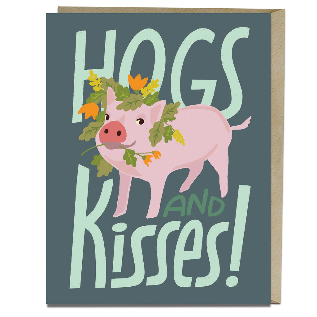 Hogs and Kisses Card