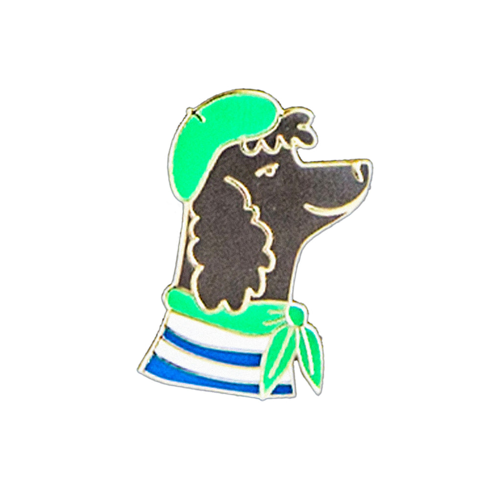 French Poodle Enamel Pin