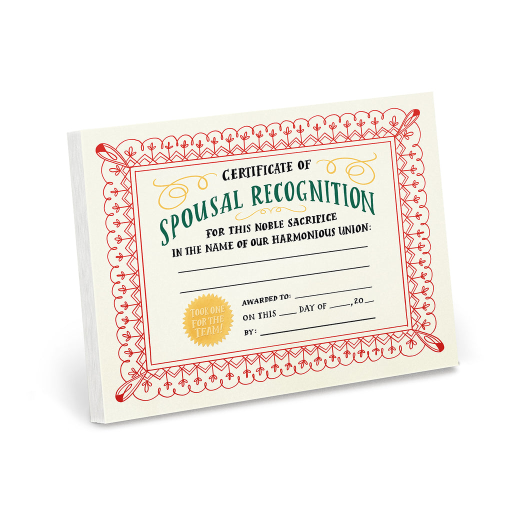 Spousal Achievement Notepad