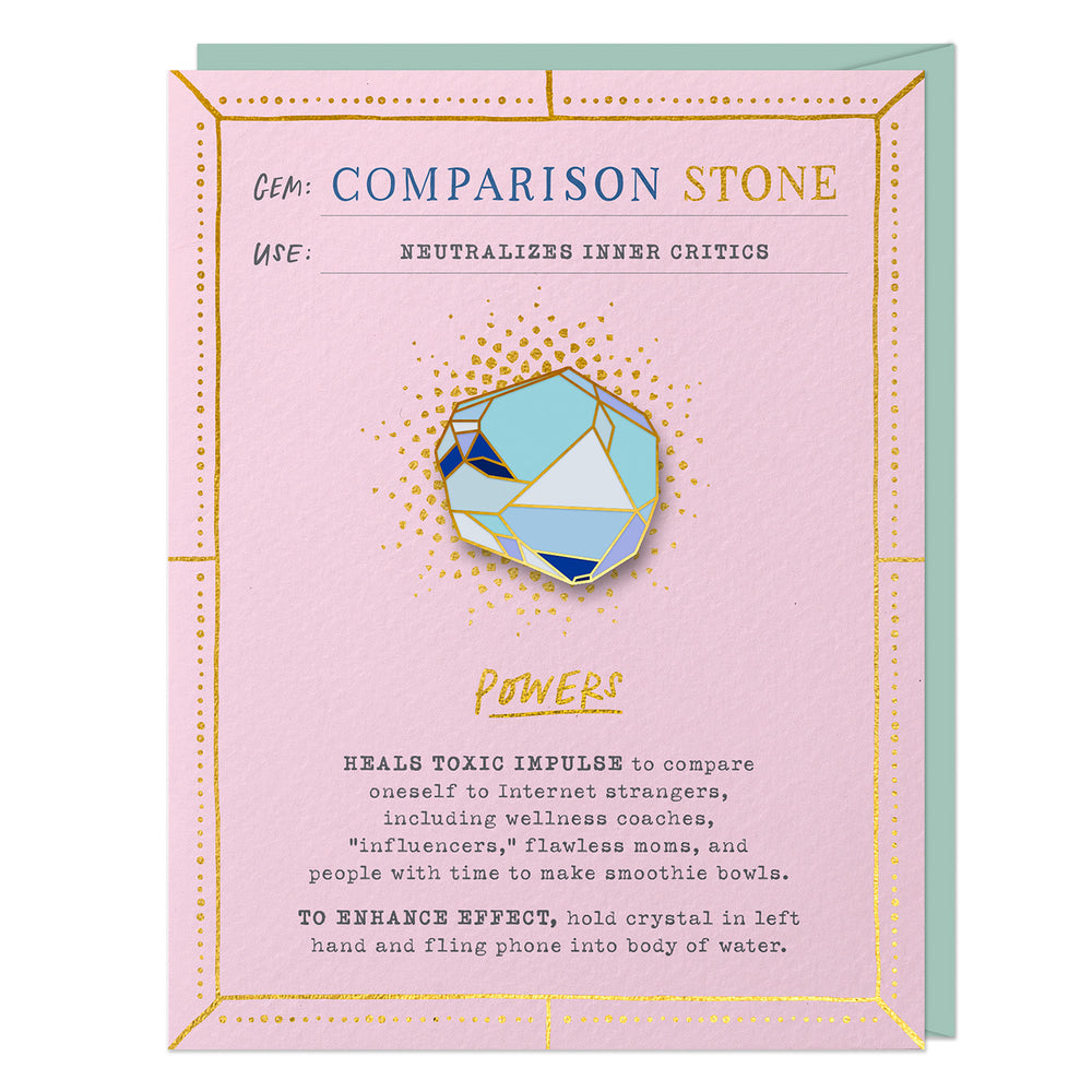 Comparison Stone Fantasy Stone Pin & Card