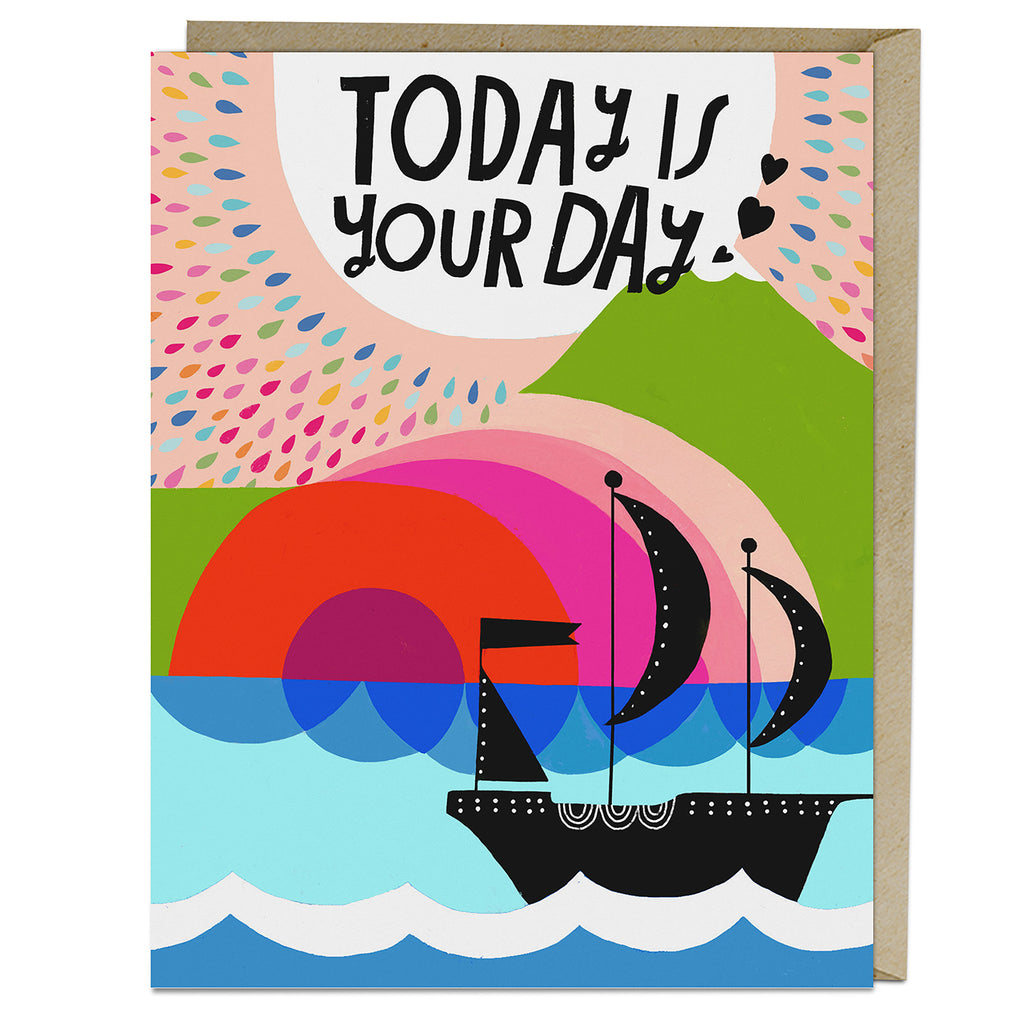 Lisa Congdon Today Is Your Day Card