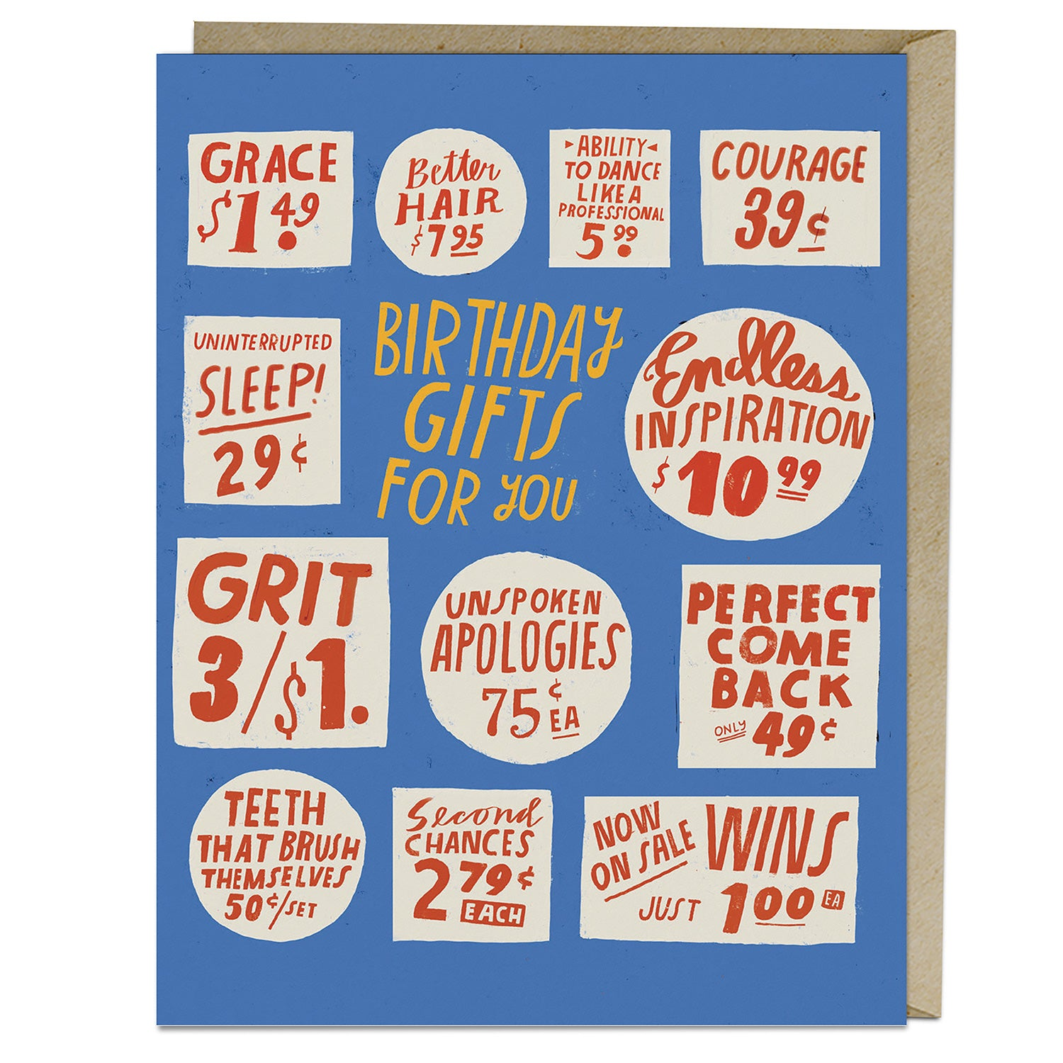 Lisa Congdon Store Signs Birthday Card