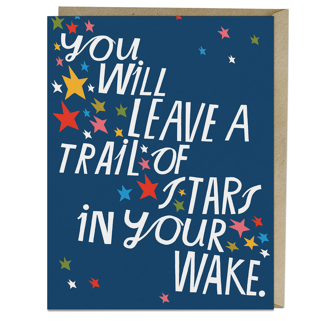 Lisa Congdon Trail Of Stars Card