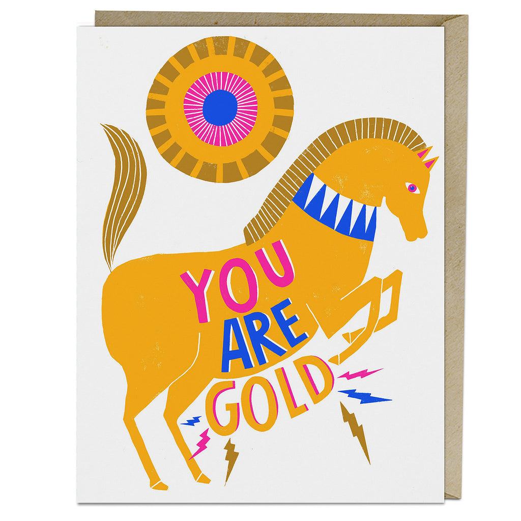 Lisa Congdon You Are Gold Card