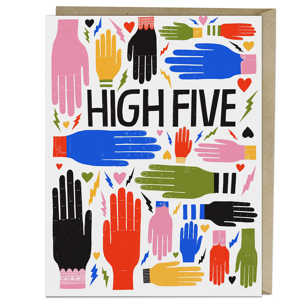Lisa Congdon for Emily McDowell & Friends High Five Card with Envelope