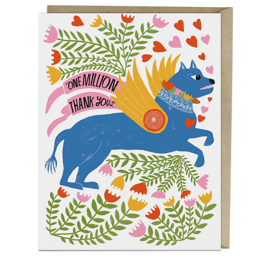 Lisa Congdon One Million Thank You Card