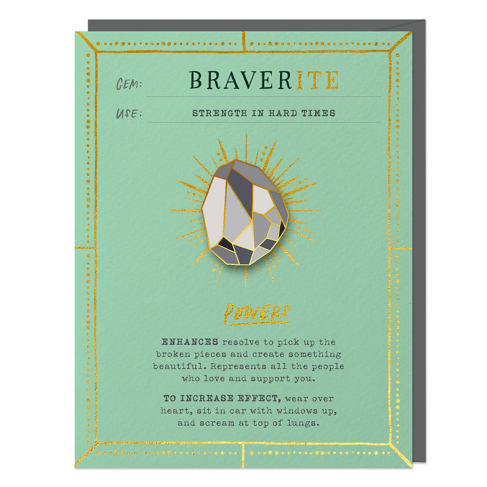 Braverite Fantasy Stone Pin & Card